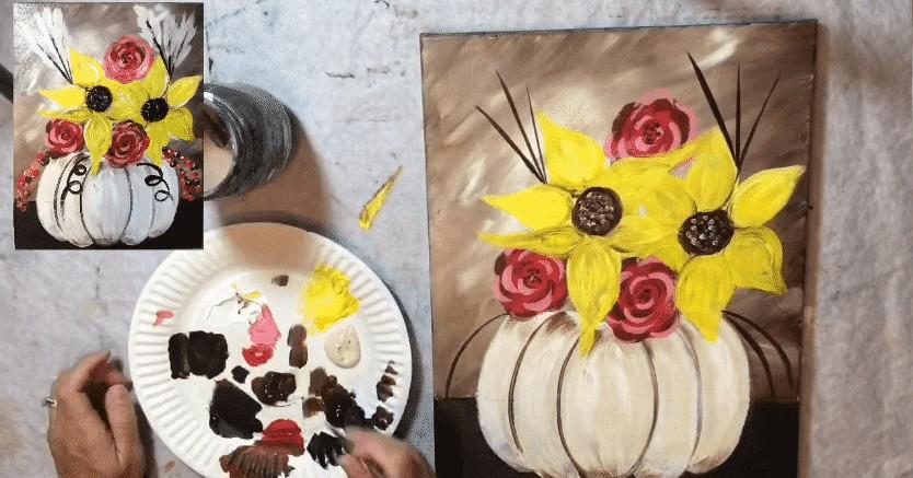 ayçiçeği çizimi dekor