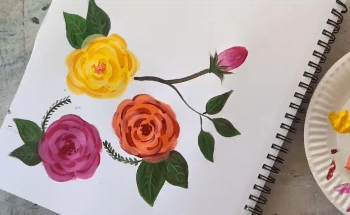 çiçek çizimi gül